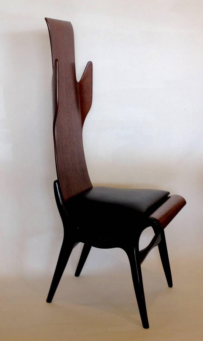 Pozzi e Verga Rare Pair of Chairs and Table, Dante Latorre, Italy For Sale 3