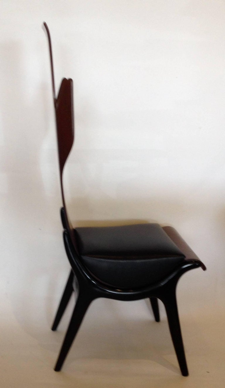 Pozzi e Verga Rare Pair of Chairs and Table, Dante Latorre, Italy For Sale 1