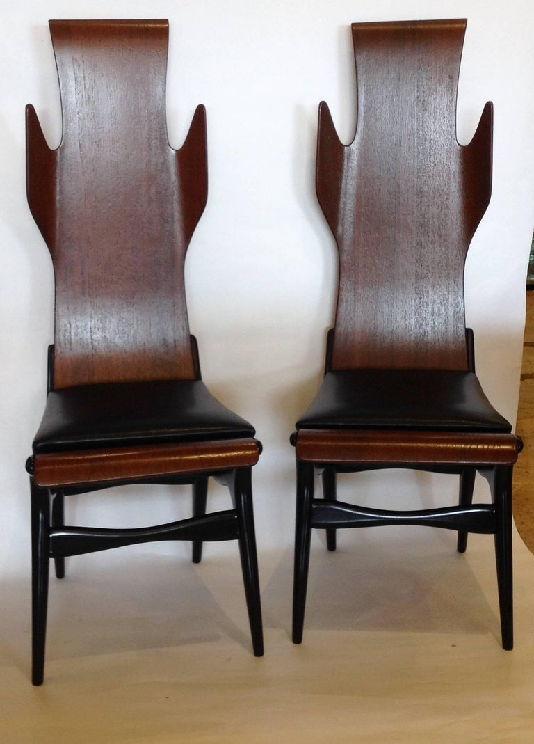 Pozzi e Verga Rare Pair of Chairs and Table, Dante Latorre, Italy For Sale