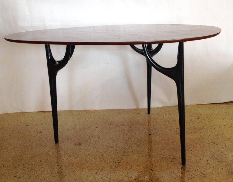 Mid-Century Modern Pozzi e Verga Rare Pair of Chairs and Table, Dante Latorre, Italy For Sale