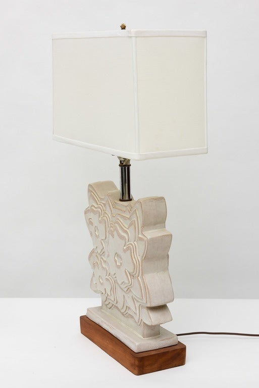 Mid-20th Century Pair of Italian Modern Ceramic Lamps, Raymor For Sale