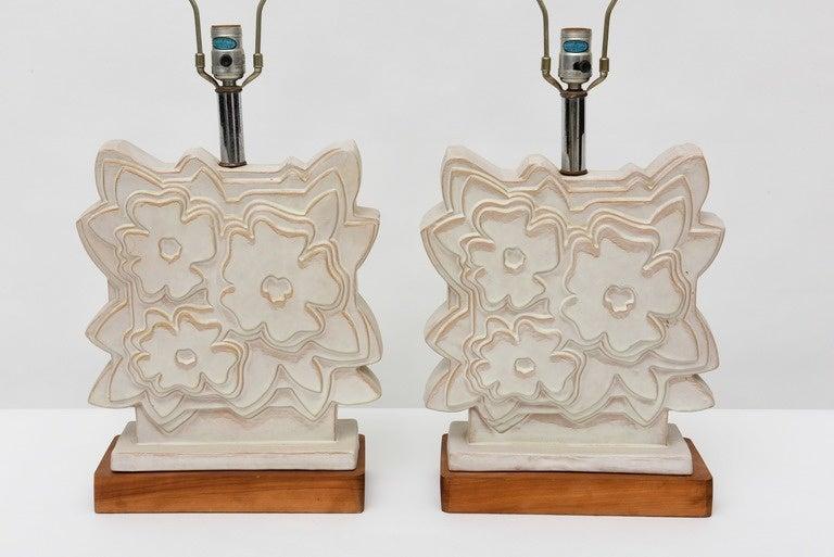 Pair of Italian Modern Ceramic Lamps, Raymor For Sale 1