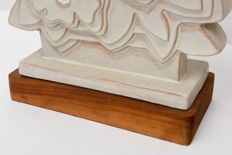 Pair of Italian Modern Ceramic Lamps, Raymor For Sale 2