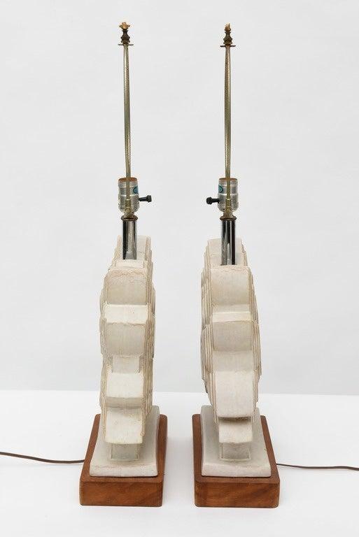 Pair of Italian Modern Ceramic Lamps, Raymor For Sale 3