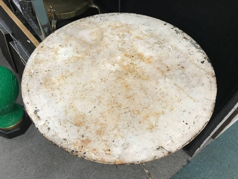 French Iron Bistro or Garden Table In Good Condition For Sale In Houston, TX