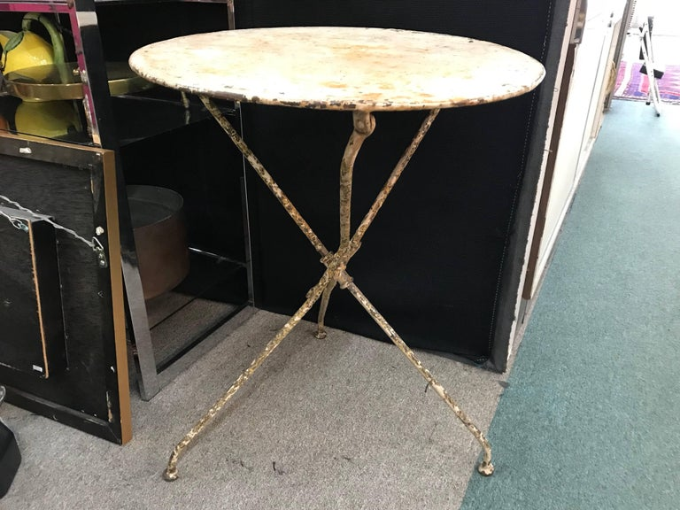 Early 20th Century French Iron Bistro or Garden Table For Sale