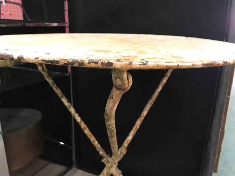 French Iron Bistro or Garden Table For Sale 1
