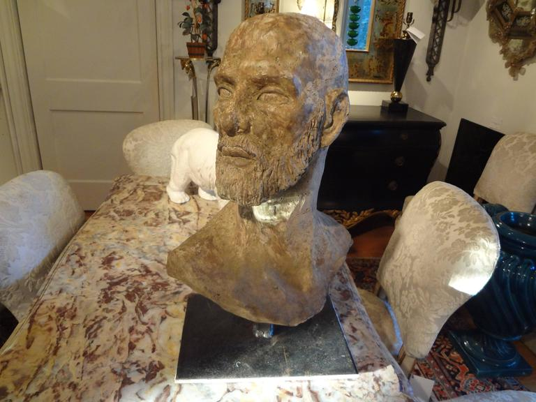 Greco Roman Style Terra Cotta Bust, Italy  For Sale 1