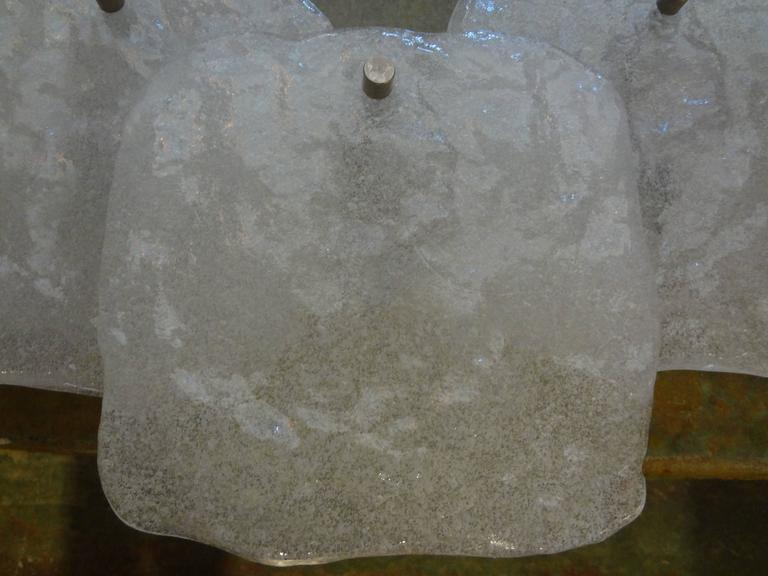 Pair of Mid-Century Modern Kalmar Glass Sconces In Good Condition For Sale In Houston, TX