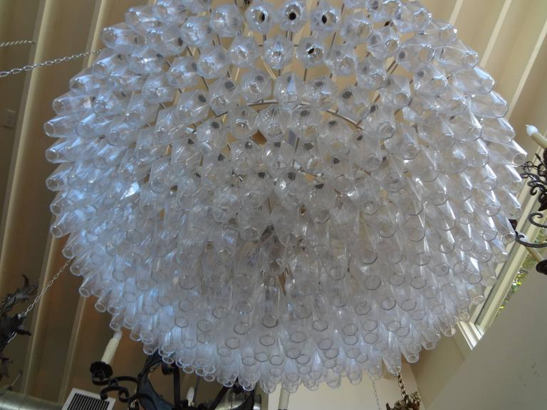 Mid-20th Century Monumental Polyhedral Murano Glass Chandelier by Toni Zuccheri for Venini For Sale