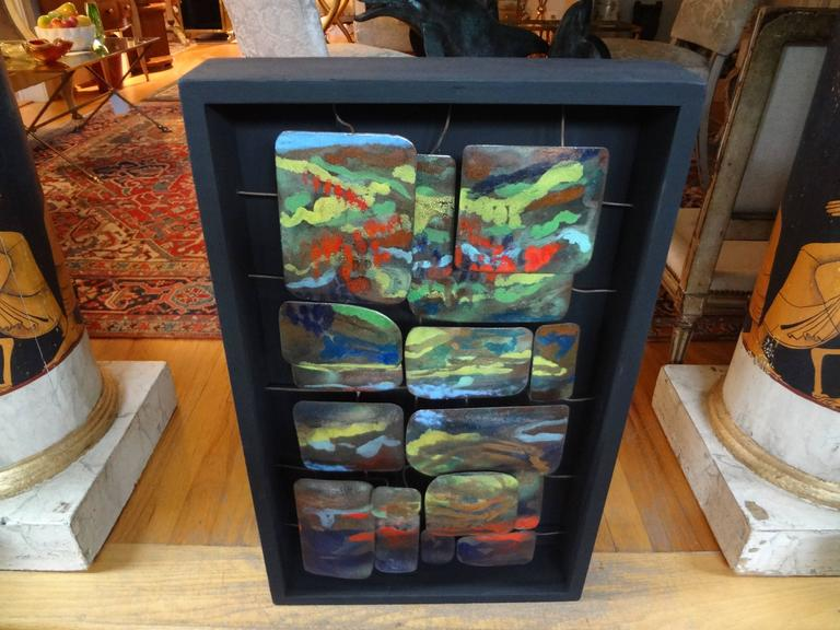 Mid-Century Modern Colorful Abstract Enamel Sculpture For Sale 2