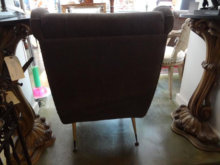 Mid-Century Modern Pair of Midcentury Italian Gio Ponti Inspired Lounge Chairs or Armchairs For Sale