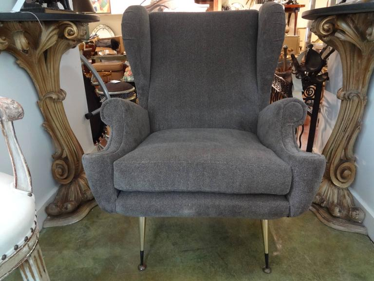 Pair of Midcentury Italian Gio Ponti Inspired Lounge Chairs or Armchairs For Sale 3