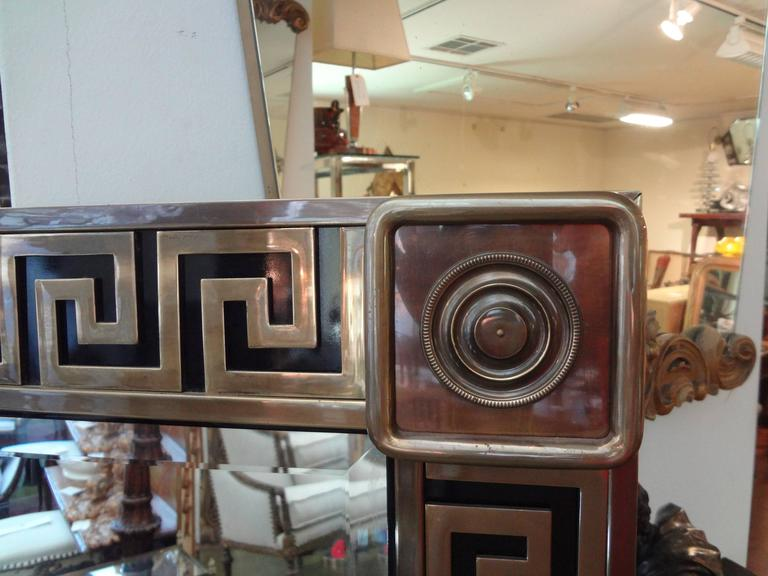 Brass Greek Key Beveled Mirror by Mastercraft 2