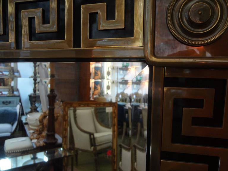 Brass Greek Key Beveled Mirror by Mastercraft 4