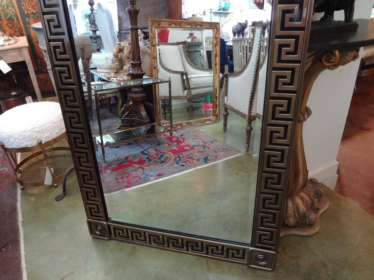 Brass Greek Key Beveled Mirror by Mastercraft 6