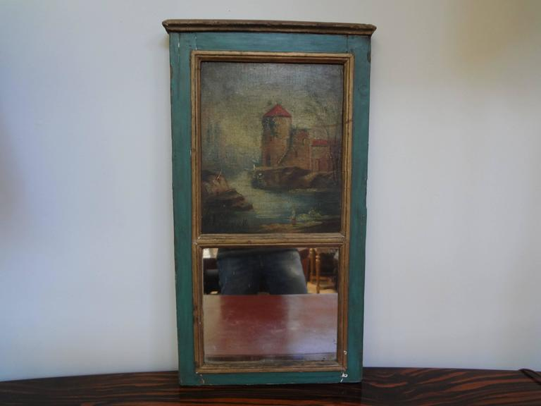 Diminutive Antique French Louis XVI Style Trumeau  For Sale 2