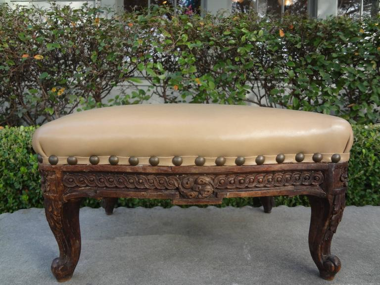 Antique French Louis XV-XVI Style Footstool For Sale 1