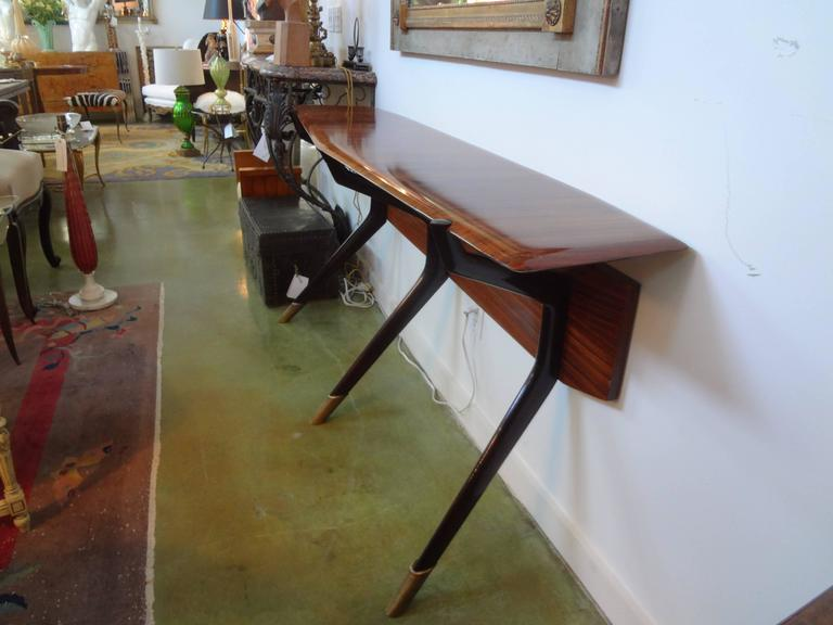 Mid-Century Italian Console Table, Style of Ico Parisi, Milan, circa 1950 In Good Condition For Sale In Houston, TX