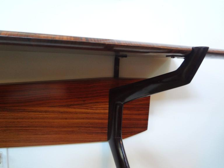 Mid-20th Century Mid-Century Italian Console Table, Style of Ico Parisi, Milan, circa 1950 For Sale