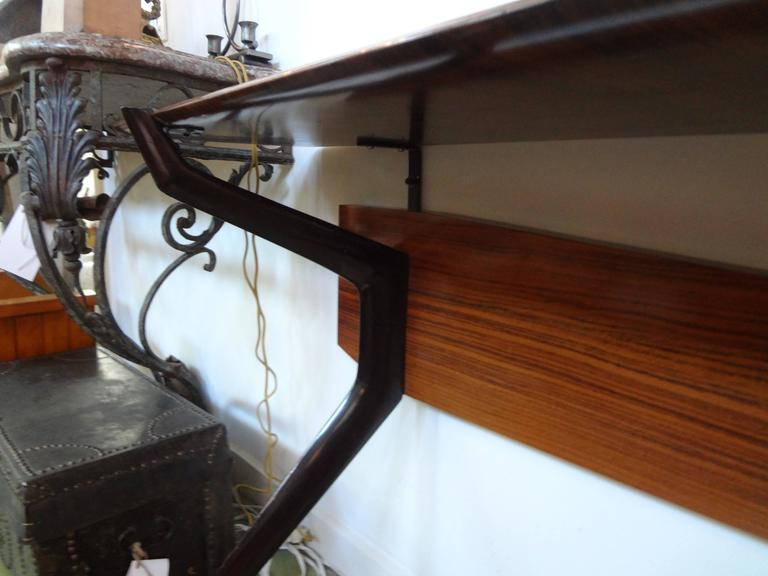 Wood Mid-Century Italian Console Table, Style of Ico Parisi, Milan, circa 1950 For Sale