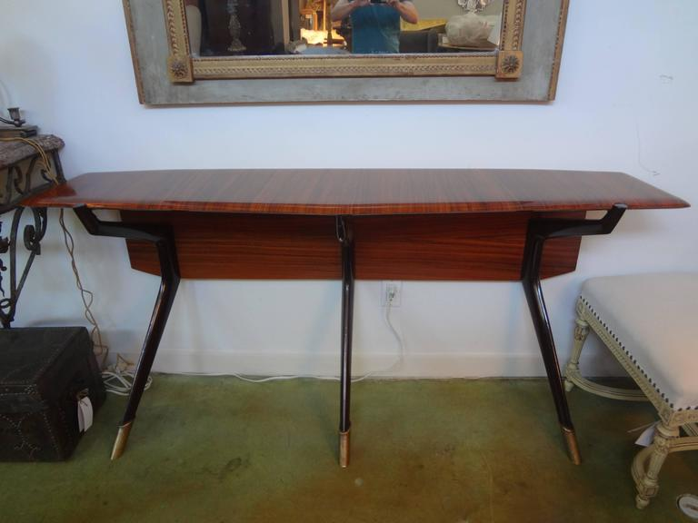 Mid-Century Italian Console Table, Style of Ico Parisi, Milan, circa 1950 For Sale 2