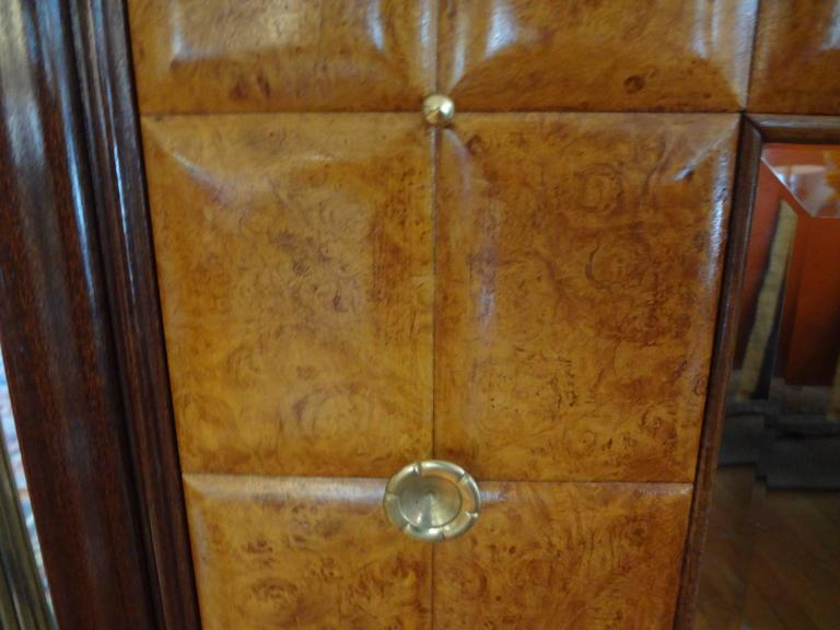 Mid-Century Modern   Paolo Buffa Attributed Cabinet with Interesting Brass Hardware, Made in Milan For Sale