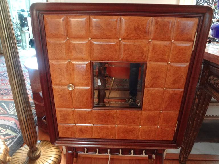Paolo Buffa Attributed Cabinet with Interesting Brass Hardware, Made in Milan For Sale 2