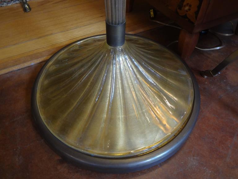 Art Deco Murano Glass Floor Lamp by Seguso, circa 1940 For Sale