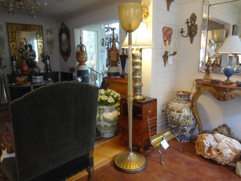 Murano Glass Floor Lamp by Seguso, circa 1940 For Sale 1
