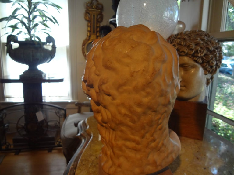 French Classical Terra Cotta Bust Signed R. D'Arly, Paris In Good Condition For Sale In Houston, TX