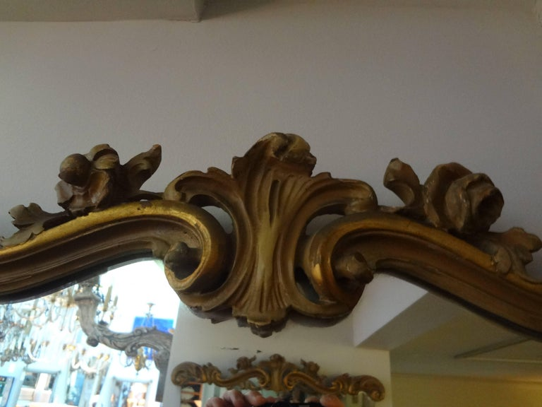 Hollywood Regency Pair of Italian Serge Roche Inspired Painted and Giltwood Mirrors For Sale