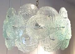Fabulous 1960s Austrian Kalmar Art Glass Chandelier