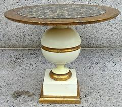 Fabulous 1950's Lacquered Cocktail Table w/ Abalone Top After Billy Haines