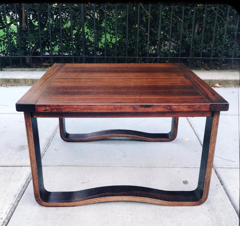 Norwegian Chic 1960s Westnofa Modern Rosewood Cocktail Table, Norway For Sale