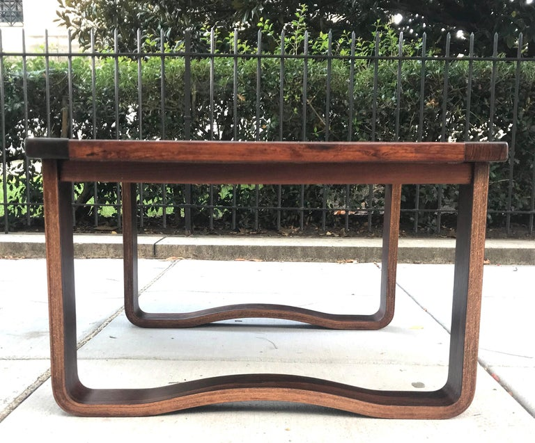 Mid-20th Century Chic 1960s Westnofa Modern Rosewood Cocktail Table, Norway For Sale