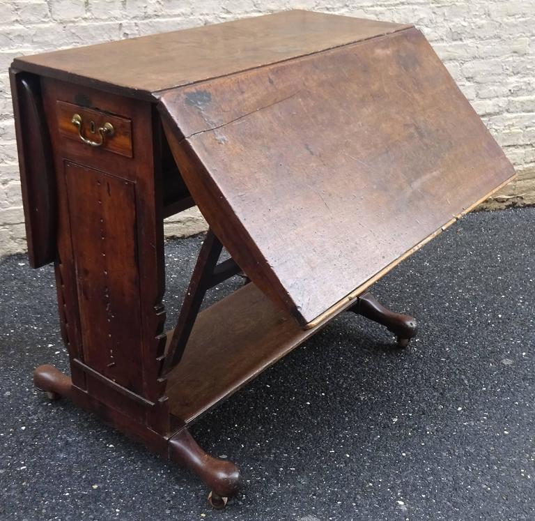 Exceptional Rare Early 18th Century English Walnut Industrial Drafting Table 6