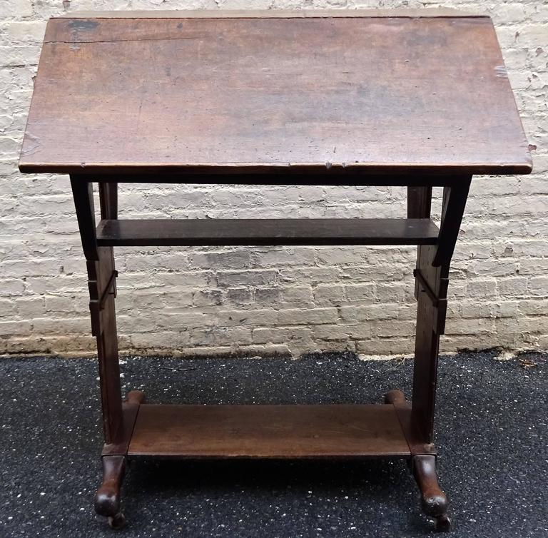 Exceptional Rare Early 18th Century English Walnut Industrial Drafting Table 8