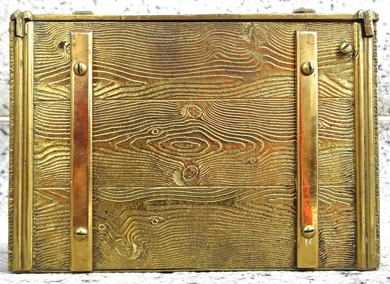 Unusual 1940s Bronze Faux Bois Box In Excellent Condition For Sale In Washington, DC