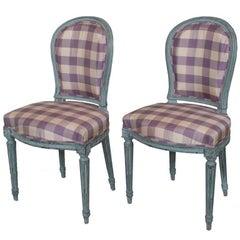 Pair of Painted Louis XVI Chairs