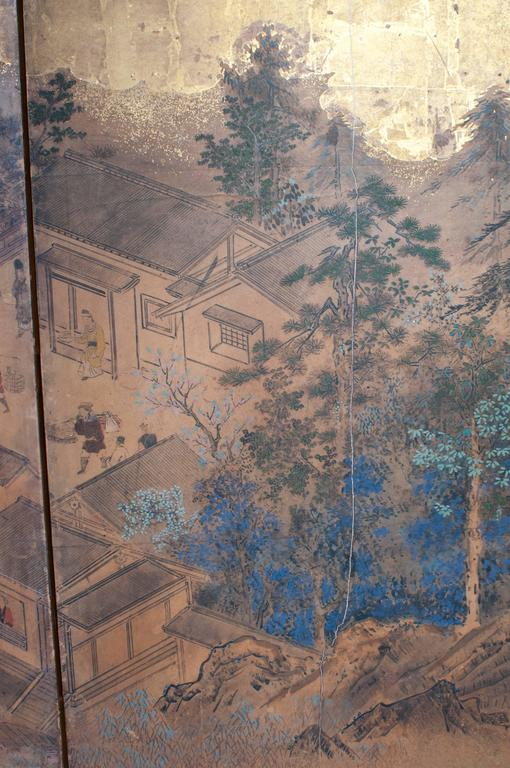 Wood Japanese Screen - Six Panels For Sale