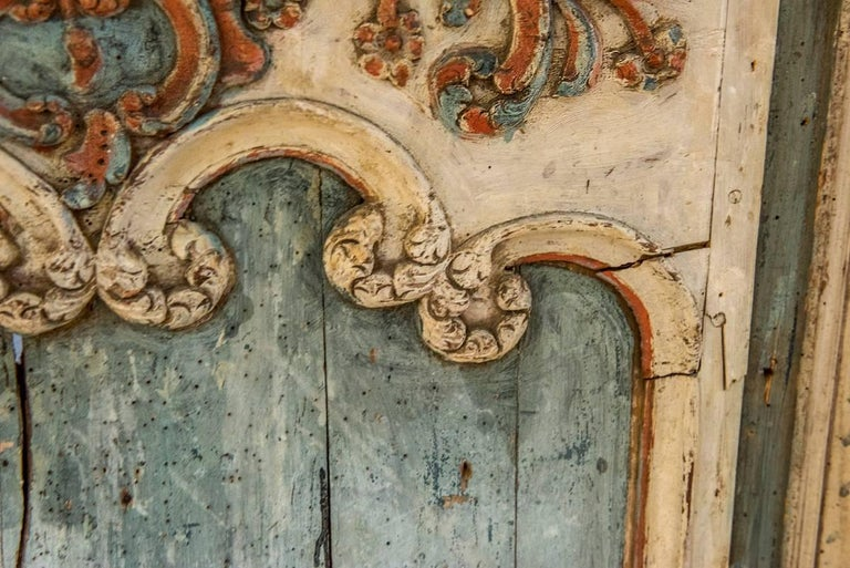18th Century and Earlier 18th Century Painted Boiserie Panel For Sale