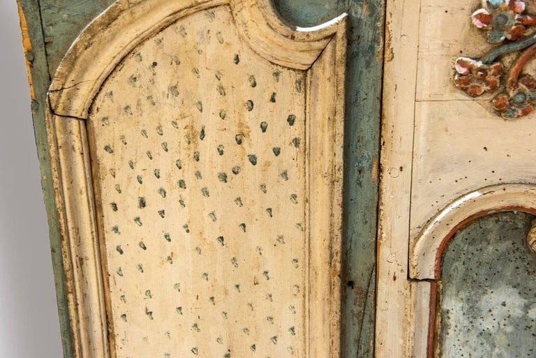 Wood 18th Century Painted Boiserie Panel For Sale