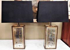 Pair of Eglomiese Table Lamps
