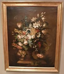 """Oil on Canvas: """"Flowers in an Urn"""""""
