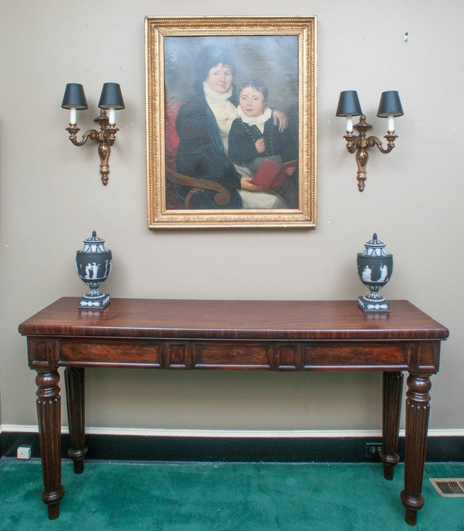 Long Console Table : Mahogany Regency Long Console Table at 1stdibs
