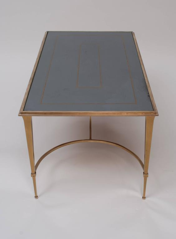 Maison Ramsay Bronze Coffee Table With Mirrored Top Circa 1950 At 1stdibs