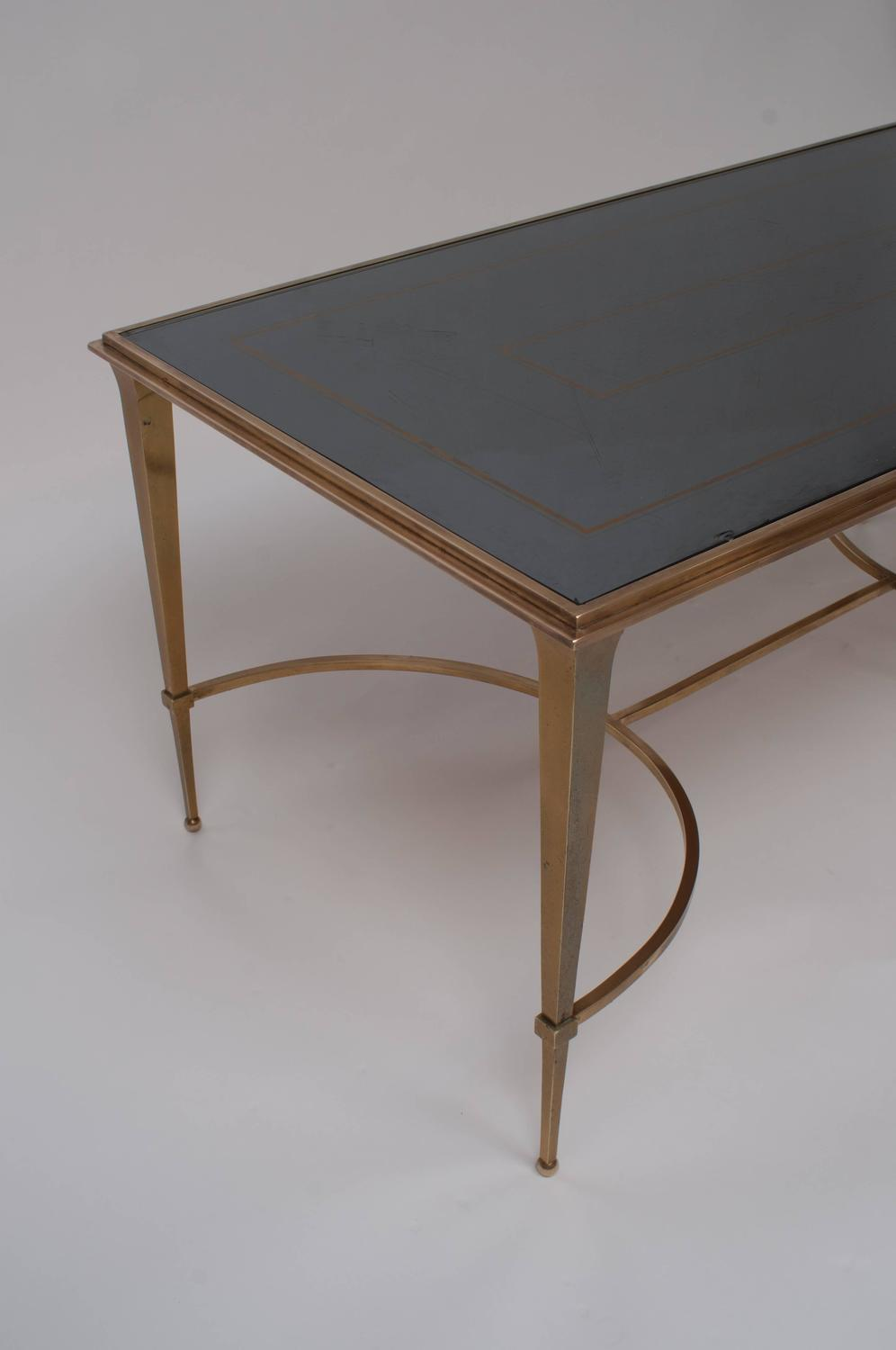 Maison Ramsay Bronze Coffee Table With Mirrored Top Circa 1950 For Sale At 1stdibs