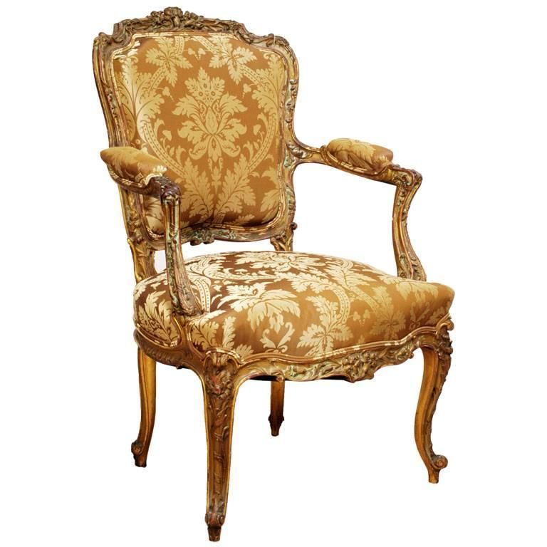 louis xv style fauteuil or armchair italy circa 1780 for. Black Bedroom Furniture Sets. Home Design Ideas
