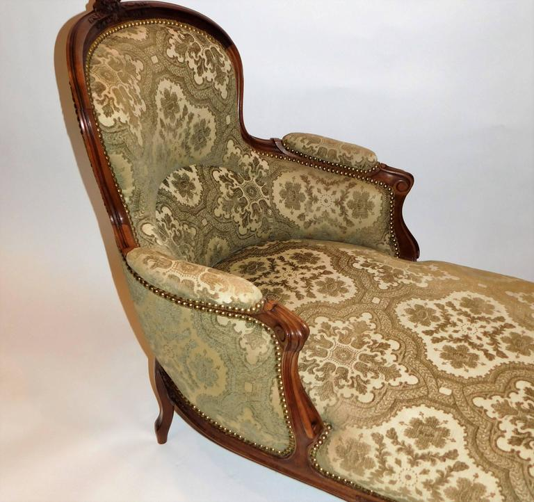 louis xv style chaise longue at 1stdibs. Black Bedroom Furniture Sets. Home Design Ideas